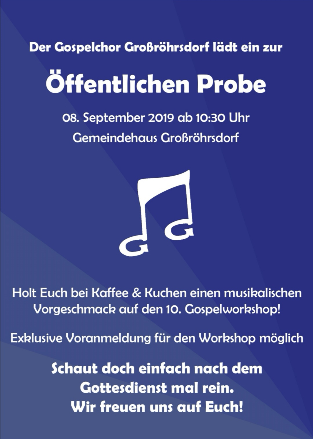 Öffentliche Probe @ Gemeindehaus Großröhrsdorf